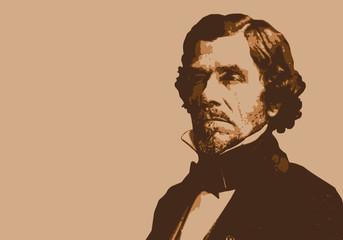 Delacroix - peintre - portrait - personnage célèbre - artiste peintre - célèbre - peinture - liberté - tableau