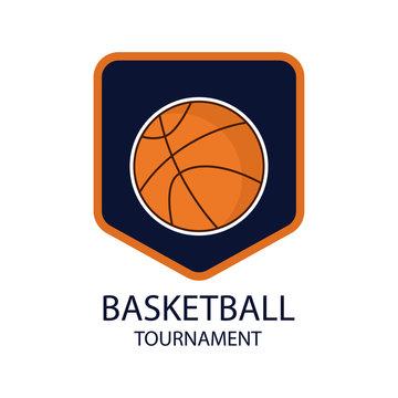 Basketball Tournament Logo Vector Template Design
