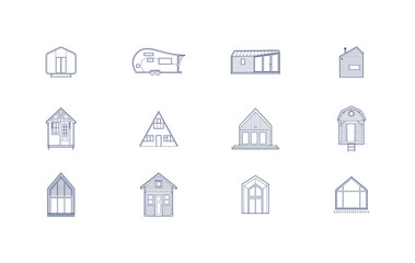 12 Tiny House Icons