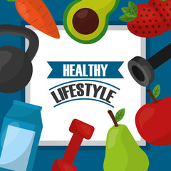 healthy lifestyle sport gym fitness food nutrition template vector illustration