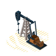 Drilling Rigs,Isolated on white background,Isometric view,Desert Drilling Rig