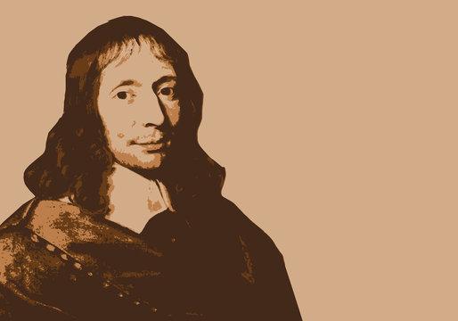 Blaise Pascal - portrait - inventeur - philosophe -mathématicien - physicien - personnage célèbre - science