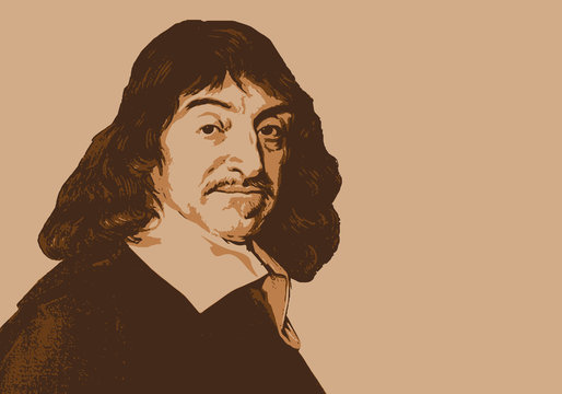 Descartes - portrait - philosophe - écrivain - personnage célèbre - science - philosophie