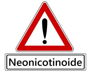 Verkehrsschild mit Ausrufezeichen  für Neonicotinoide