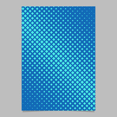 Halftone square pattern background page design - vector graphic with diagonal squares