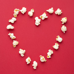 Love Cinema concept of popcorn