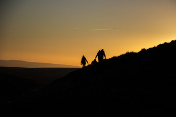 Sunset Silhouette Pendle Hill