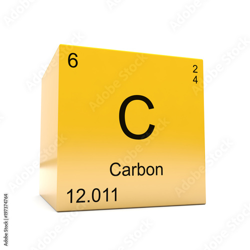 Carbon Chemical Element Symbol From The Periodic Table Displayed On