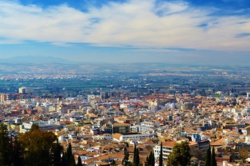 The city of Granada in Southern Spain.