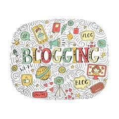 Vector blogging illustration