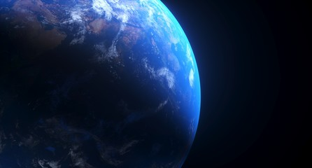 3D Rendering Of Realistic Planet Earth With Glow The Elements Of This Image Furnished By NASA For Textures