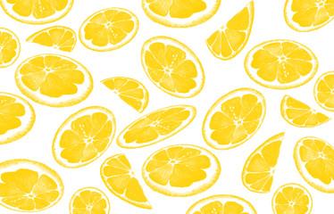 Oranges, lemons, tropical leaves