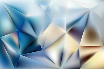 vector crumpled polygonal background composed of colored triangles.