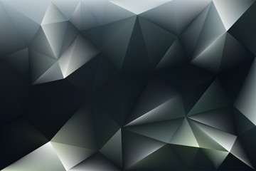 3d abstract black and white crystal background.