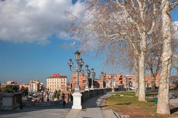 Montagnola park and city. Bologna, Emilia-Romagna, Italy