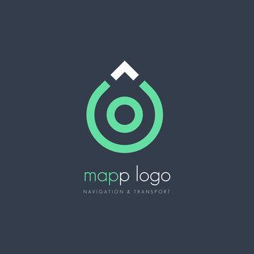 Map Pin Logo Design