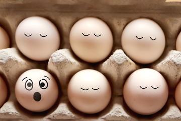 Surprised egg photo