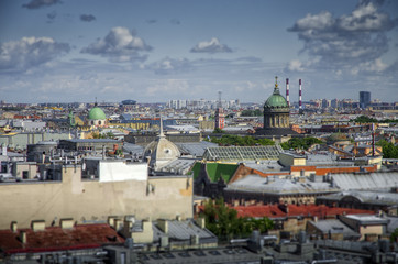 Aerial view on Saint Patersburg from Isaac Cathedral, Russia
