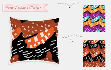 Realistic satin decorative pillow mock up