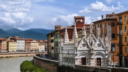 The beautiful Church of Santa Maria della Spina on the Lungarno of Pisa, Tuscany, Italy