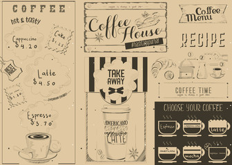 Coffee Menu Craft Placemat