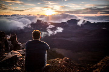 Taking in the Haleakala Sunrise on Maui