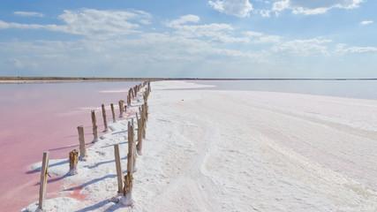 Słone różowe jezioro - 197389970