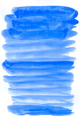 Navy blue watercolor abstract background. Gradient fill. Hand drawn texture. Rough edges. Raster version.