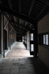 Corridor of old building, Vietnam