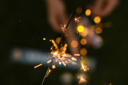Sparklers and Firewords In the Night