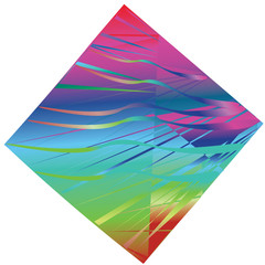 A flat vector image of a rhombus. Abstract geometric figure, background.
