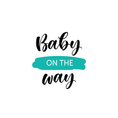 Hand lettered baby quote