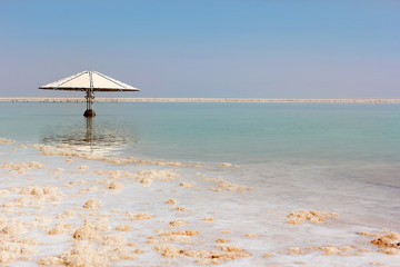picturesque landscape at the Dead Sea, Israel shore