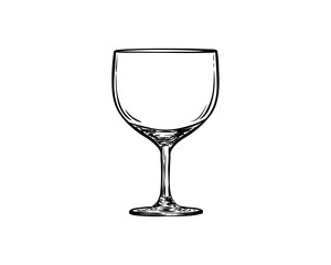 Drink with Line Art Wine Glass or Glass Beer Sign Symbol Icon Logo Vector