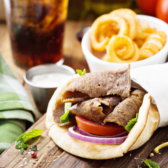 Greek gyro pita wrap