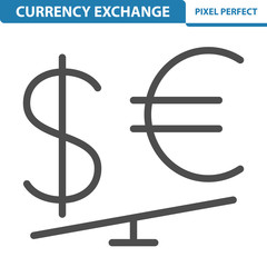 Currency Exchange Rate Icon. EPS 8 format.