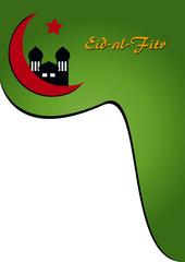 Plakat mit Textfreiraum für das Fest Eid-al-fitr. Eps 10 Vektor-Datei