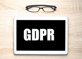 GDPR (general data protection regulation) concept