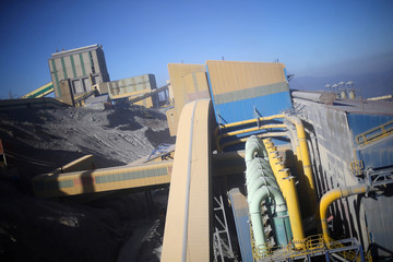 A view of 'El Teniente' copper mine of Chile's state copper giant Codelco in Rancagua