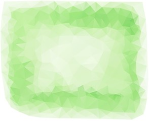 Bautiful low poly triangular green frame background The imitation of the watercolor art. Vector illustration.