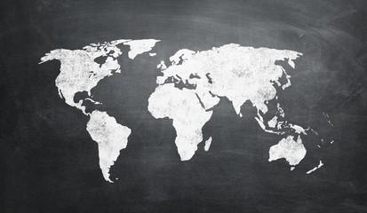 Worldmap Blackboard