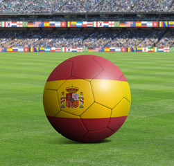 Soccer ball ball with the national flag of SPAIN ball with stadium
