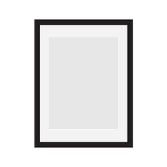 blank photo frame with passe-partout- vector illustration