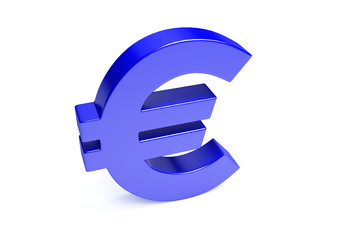 Euro Icon On White With Clipping Path