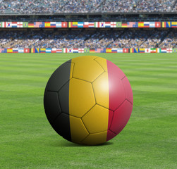 Soccer ball ball with the national flag of BELGIUM ball with stadium
