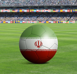 Soccer ball ball with the national flag of IRAN ball with stadium