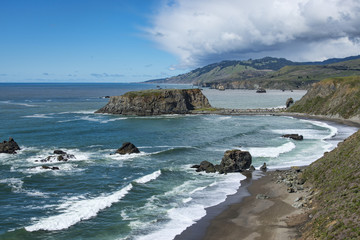 Goat Rock, California coast