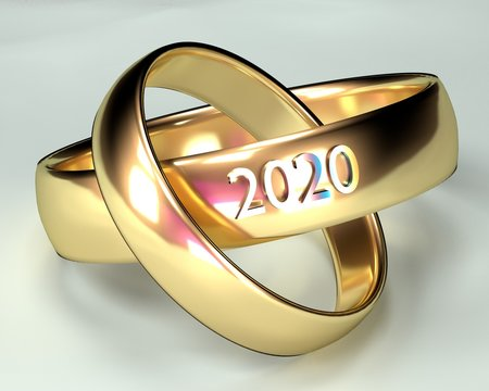 Wedding ring with a ceremony in 2020