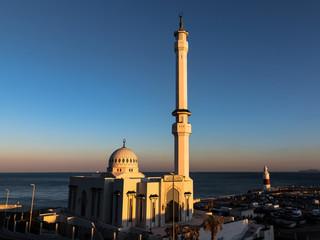 Gibraltar Mosque at sunset