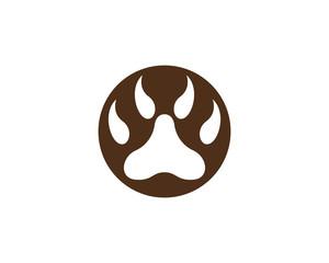 Paw Logo design vector illustration